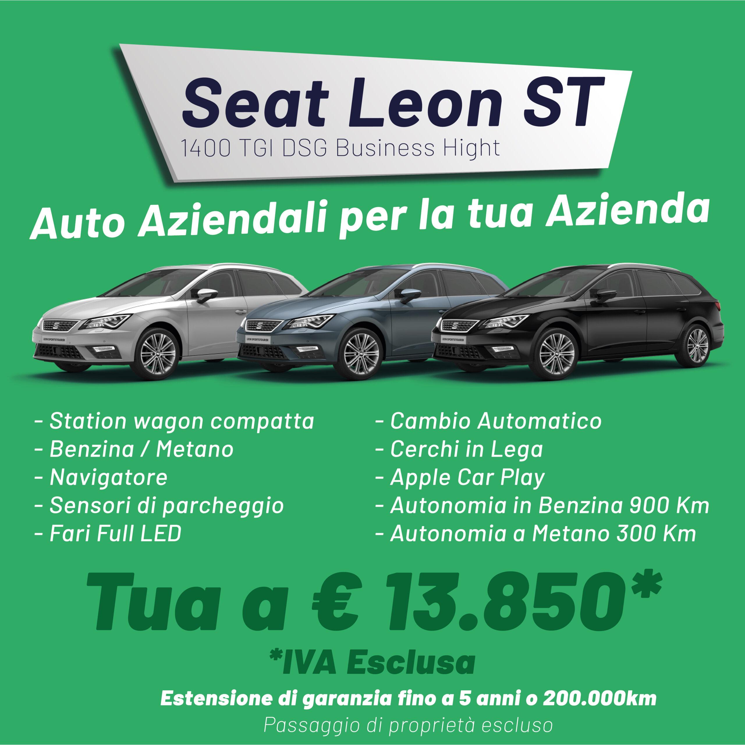 Seat Leon Aziendali per la tua azienda